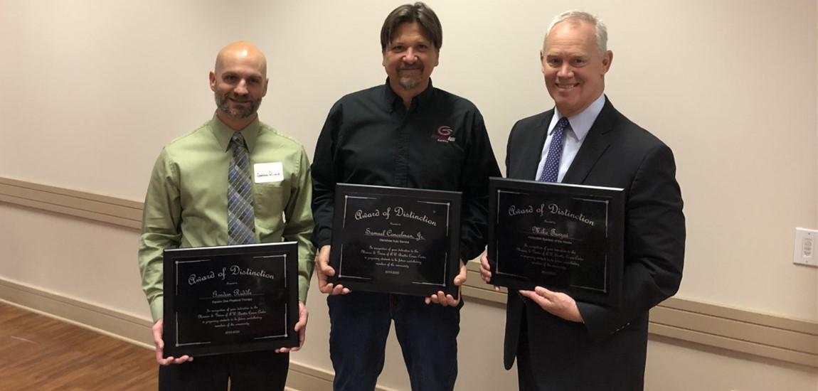 3 community leaders awarded for contributions to A.W. Beattie, CTE education